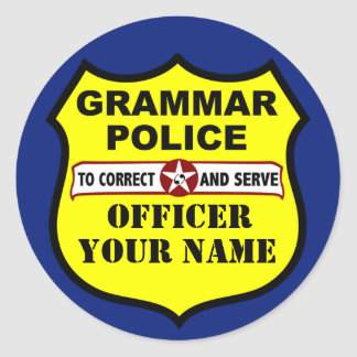Grammar Police Customizable Sticker
