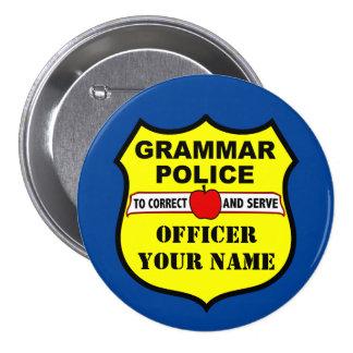Grammar Police Customizable Teacher Button