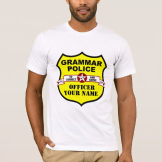 Grammar Police Customizable Tee