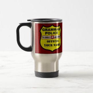 Grammar Police Customizable Travel Mug