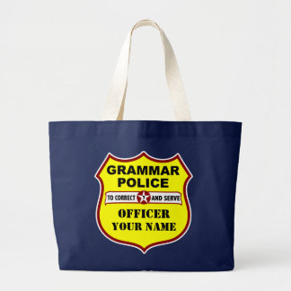 Grammar Police Dark Tote Tote Bags