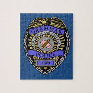 Grammar Police Dept Badge Pencil Eraser Jigsaw Puzzle