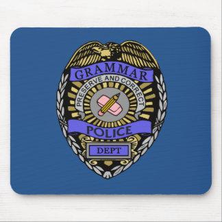 Grammar Police Dept Badge Pencil Eraser Mouse Pad