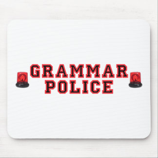 Grammar Police Mouse Pad
