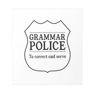 Grammar Police Notepad