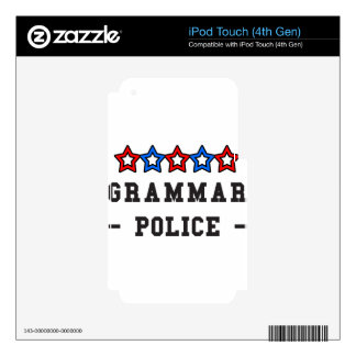 Grammar Police Skins For iPod Touch 4G