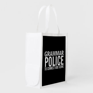Grammar Police To Correct And Serve Grocery Bag