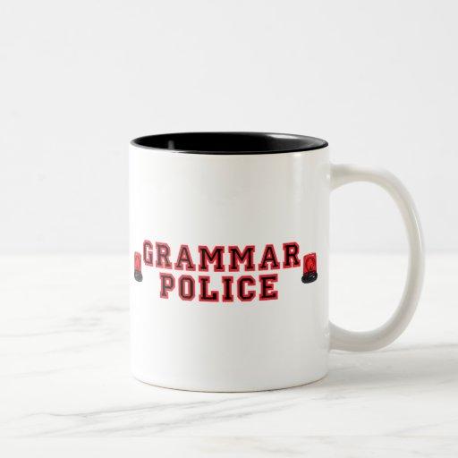 Grammar Police Two-Tone Coffee Mug
