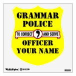 Grammar Police Wall Decal