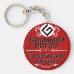 Grammar Policeman Key Chains