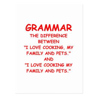 grammar postcard