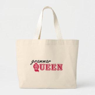 Grammar Queen Large Tote Bag