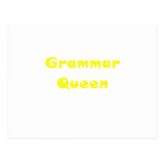 Grammar Queen Postcard