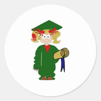 Grammar School Graduate Round Sticker