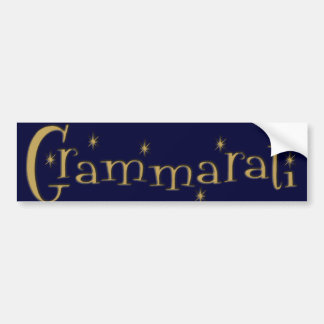 Grammaratti Car Bumper Sticker