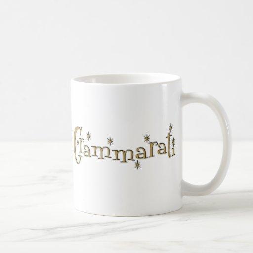 Grammaratti Classic White Coffee Mug