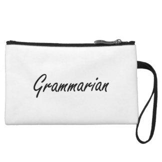 Grammarian Artistic Job Design Wristlet Purses