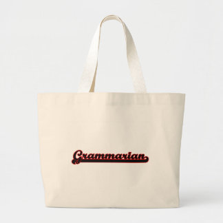 Grammarian Classic Job Design Jumbo Tote Bag