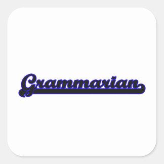 Grammarian Classic Job Design Square Sticker