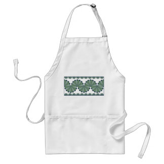 Gramma's Fan Bib Apron in Green