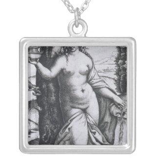 Grammer Square Pendant Necklace