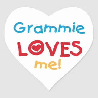 Grammie Loves Me T-shirts and Gifts Heart Sticker