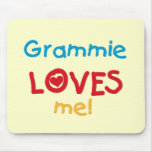 Grammie Loves Me T-shirts and Gifts Mouse Pad