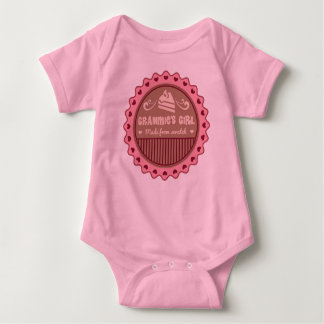 Grammies Girl Made From Scratch Funny Baby Bodysuit