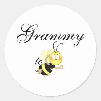 Grammy 2 be classic round sticker