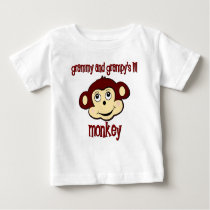 Grammy and Grampy's lil monkey Baby T-Shirt