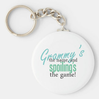 Grammy's the Name, and Spoiling's the Ga Keychain