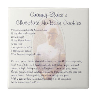 Grammy Blake's Chocolate No-Bake Cookies Ceramic Tile
