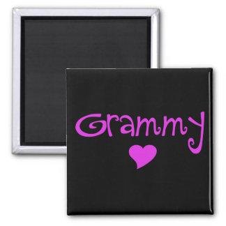 Grammy con el corazón imán de frigorífico