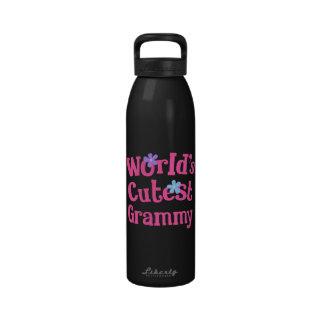 Grammy Gift Idea For Her (Worlds Cutest) Reusable Water Bottles