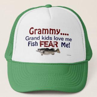 Grammy...Grand Kids Love Me Fish Fear Me Hat