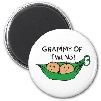 Grammy of Twins Pod 2 Inch Round Magnet