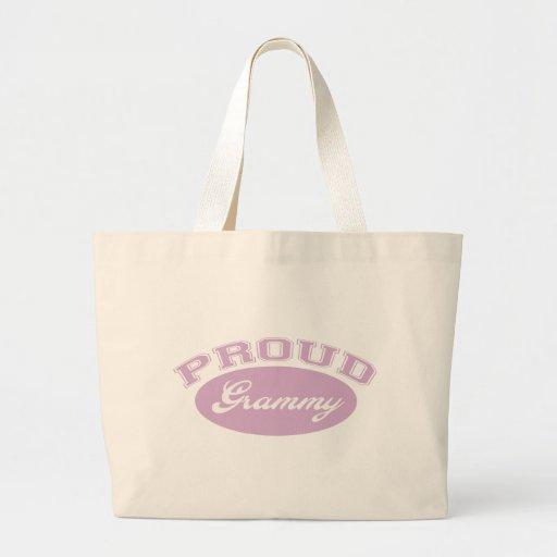 Grammy orgulloso bolsa tela grande