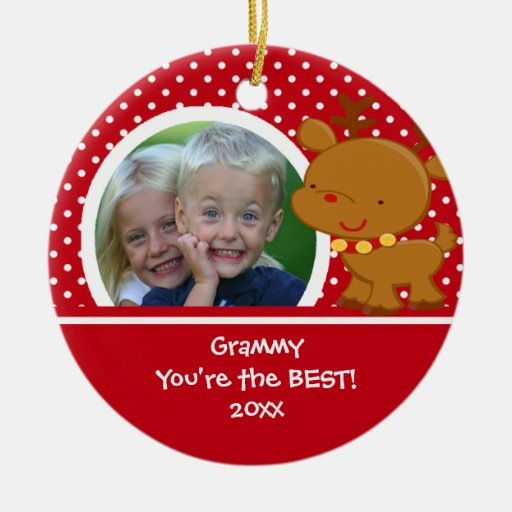 Grammy Photo Reindeer Christmas Ornament