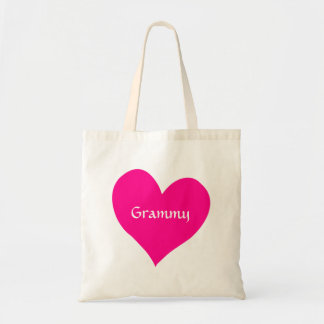 Grammy Pink Heart Tote Bags