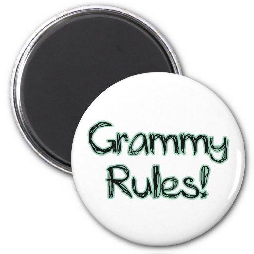 Grammy Rules 2 Inch Round Magnet