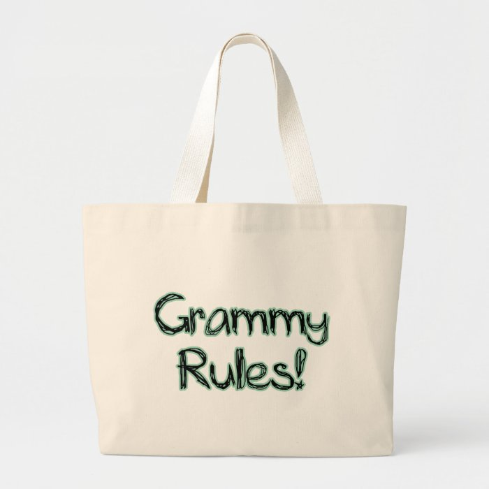Grammy Rules Large Tote Bag