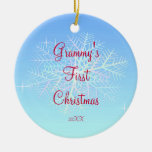 Grammy's First  Christmas Snowflake Ornament