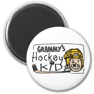 Grammy's Hockey Kid 2 Inch Round Magnet