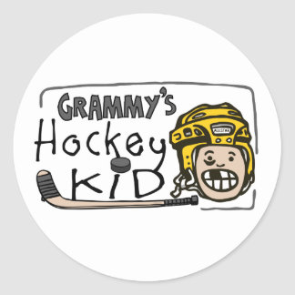 Grammy's Hockey Kid Classic Round Sticker