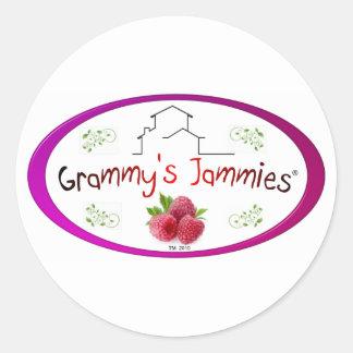 Grammy's Jammies Classic Round Sticker