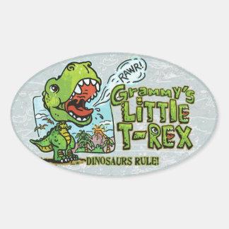 Grammy's Little T Rex Oval Oval Sticker