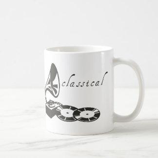 Gramófono clásico taza de café