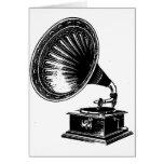 Gramófono del vintage felicitación