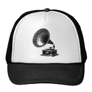 Gramófono del vintage gorros bordados