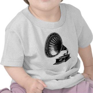 Gramófono del vintage camisetas